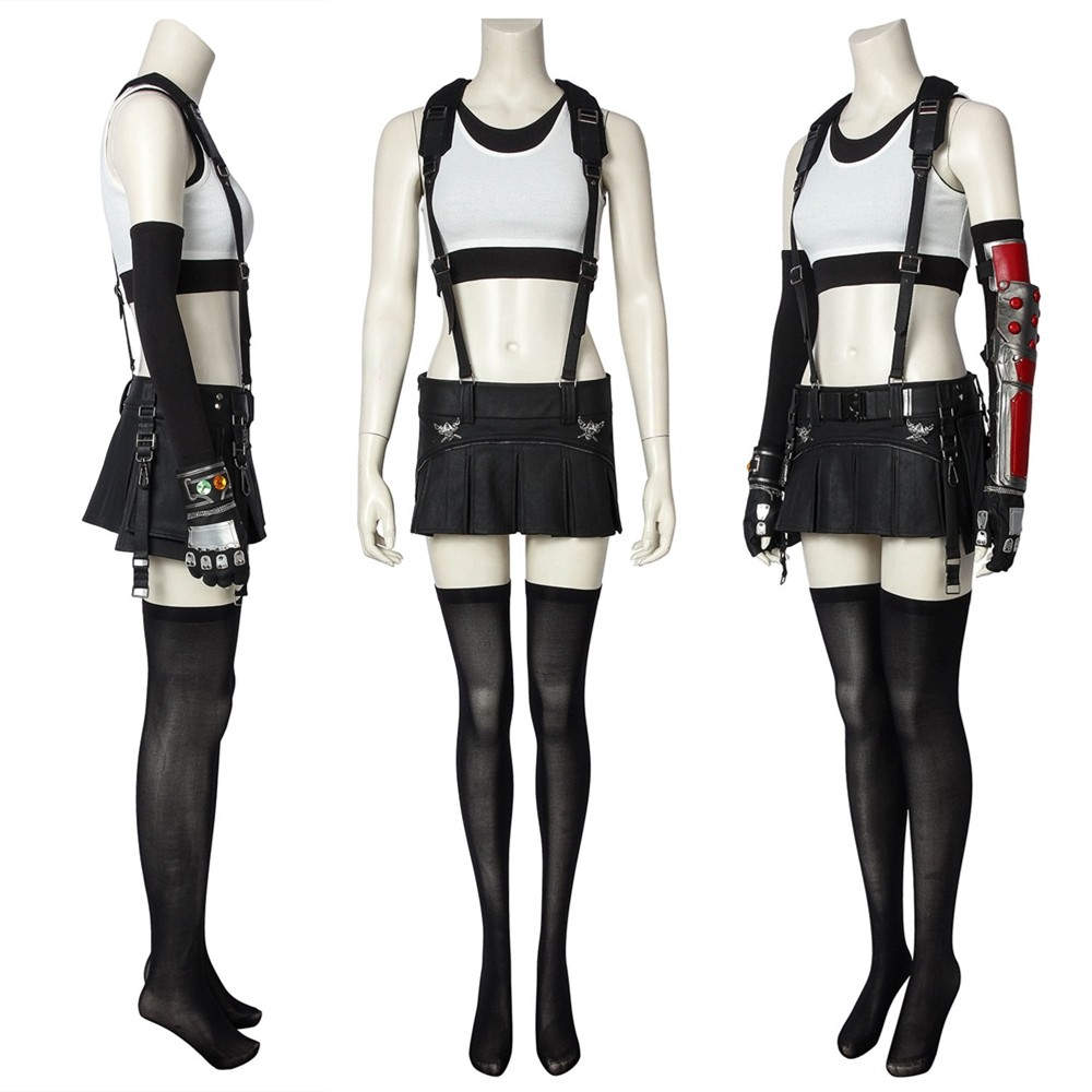 Final Fantasy VII PS4 Game FF7 Tifa Lockhar Cosplay Costume