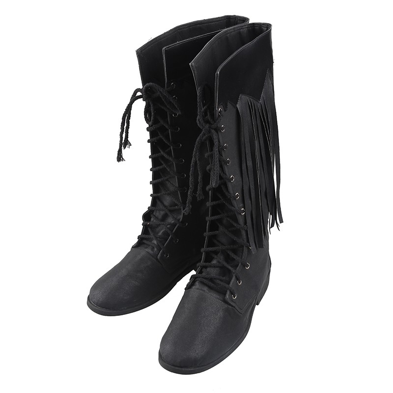 Final Fantasy XV Noctis Lucis Caelum Black Boots Cosplay Shoes