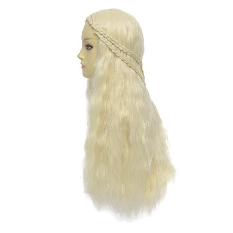 Game of Thrones Daenerys Targaryen Long Curly Wigs Cosplay