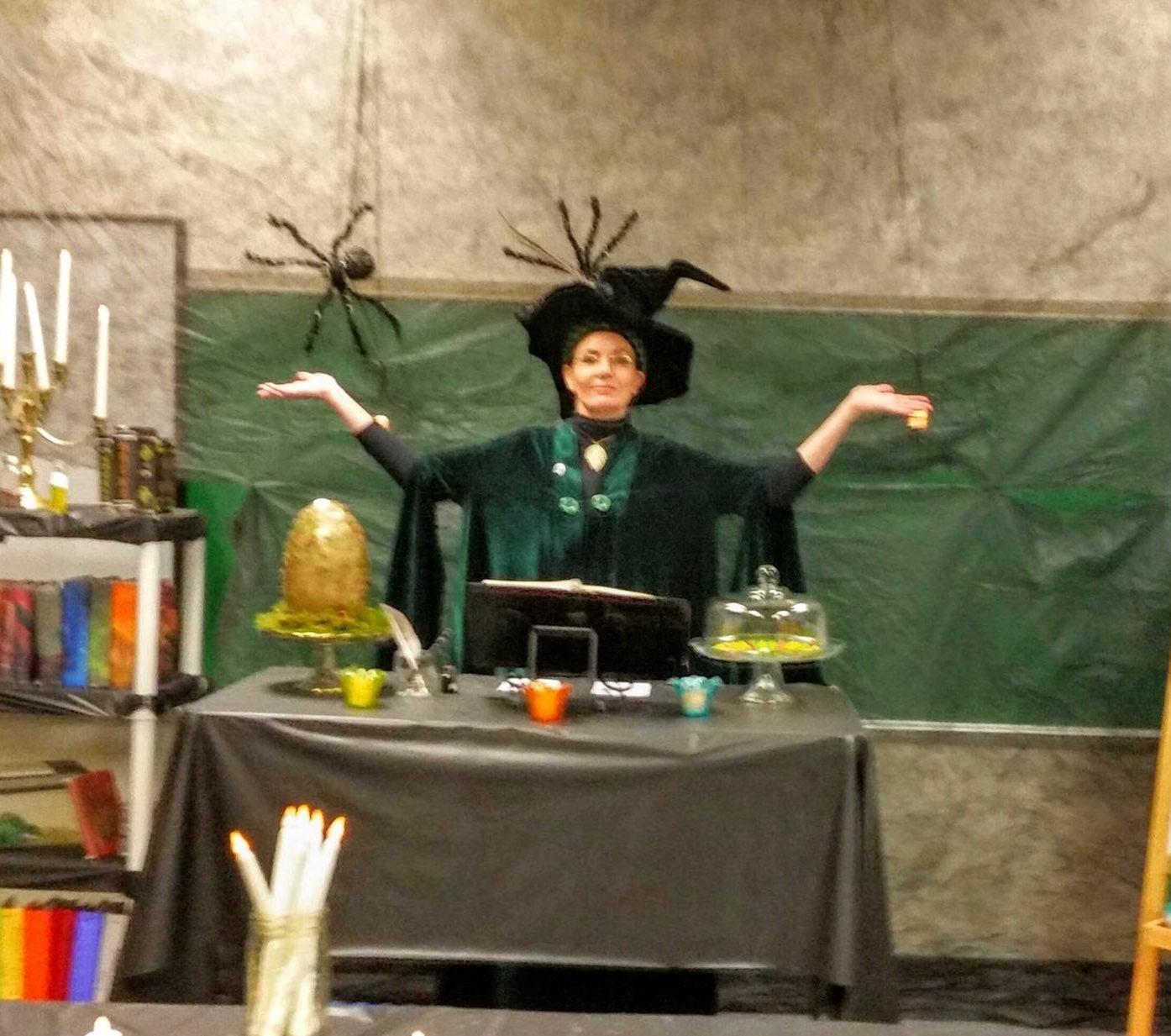 Harry Potter Minerva McGonagall Cloak Cosplay Dress Costume