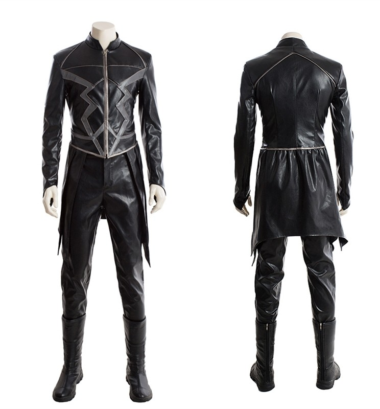 Marvel Inhumans Black Bolt Cosplay Costume