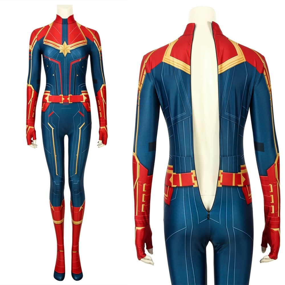 Movie Captain Marvel 3D Cosplay Jumpsuit