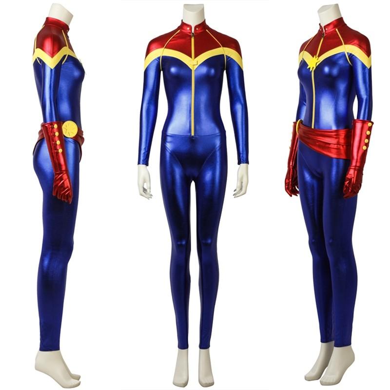 Ms. Marvel Carol Danvers Cosplay Costume Heroine Costume