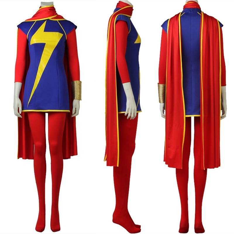 Ms. Marvel Kamala Khan Cosplay Costume