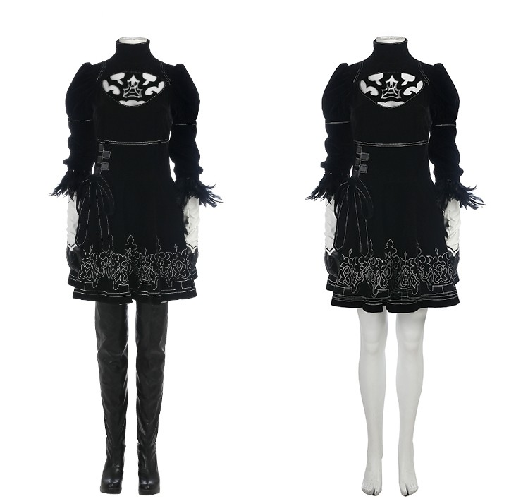 NieR: Automata 2B Cosplay Costume Full Set Deluxe Version