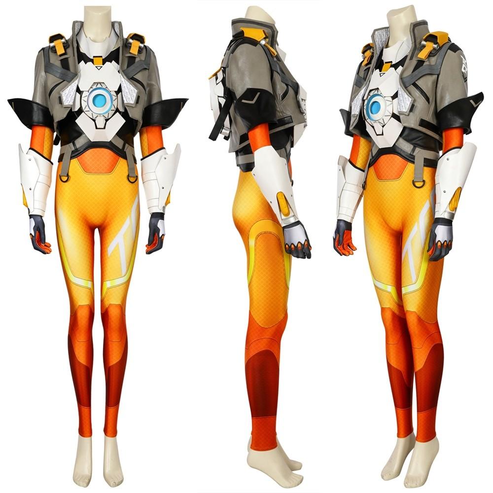 Overwatch 2 Tracer Cosplay Costume Deluxe Full Set