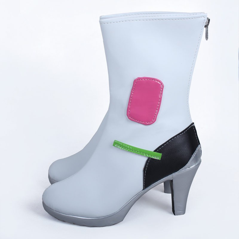 Overwatch D.Va Boots Hana Song White Cosplay Shoes
