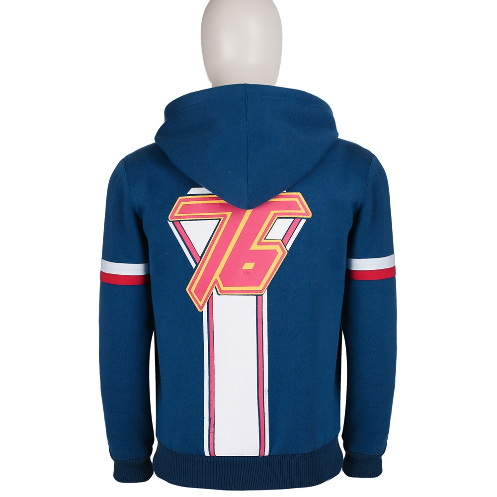 Overwatch Soldier 76 Blue Hoodie Custom Mode