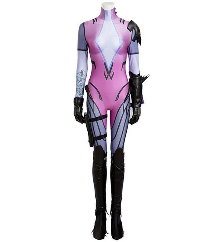 Overwatch Widowmaker Amelie Lacroix Cosplay Costume Deluxe
