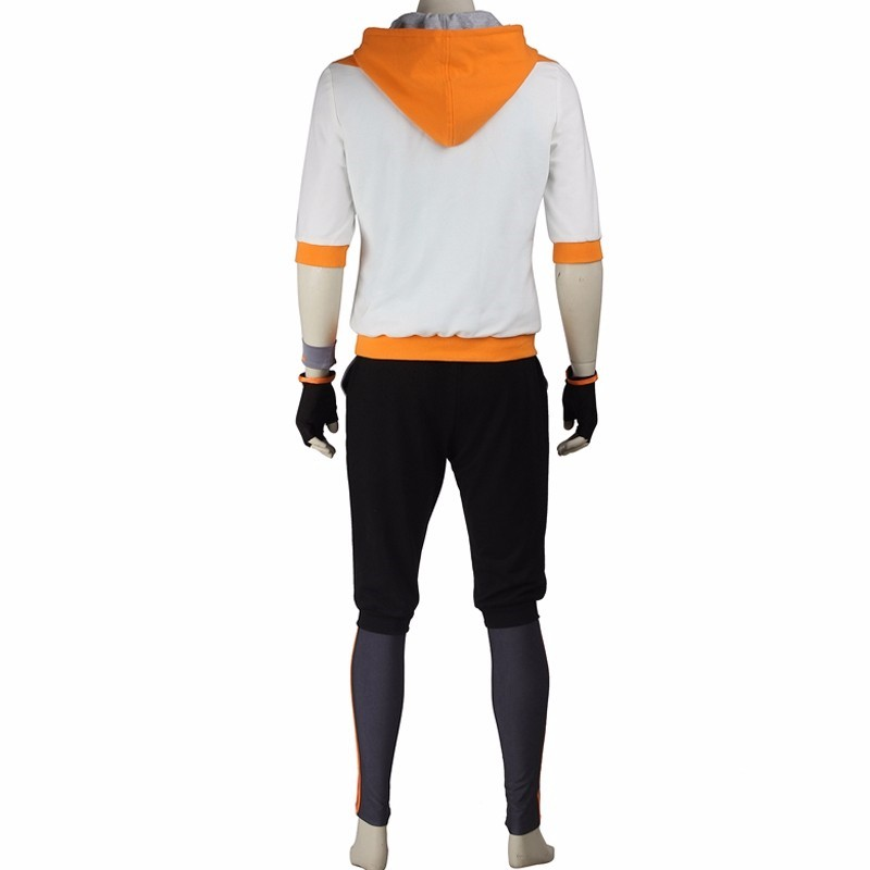 Pokemon Go Male Orange Trainer Team Cosplay Costume