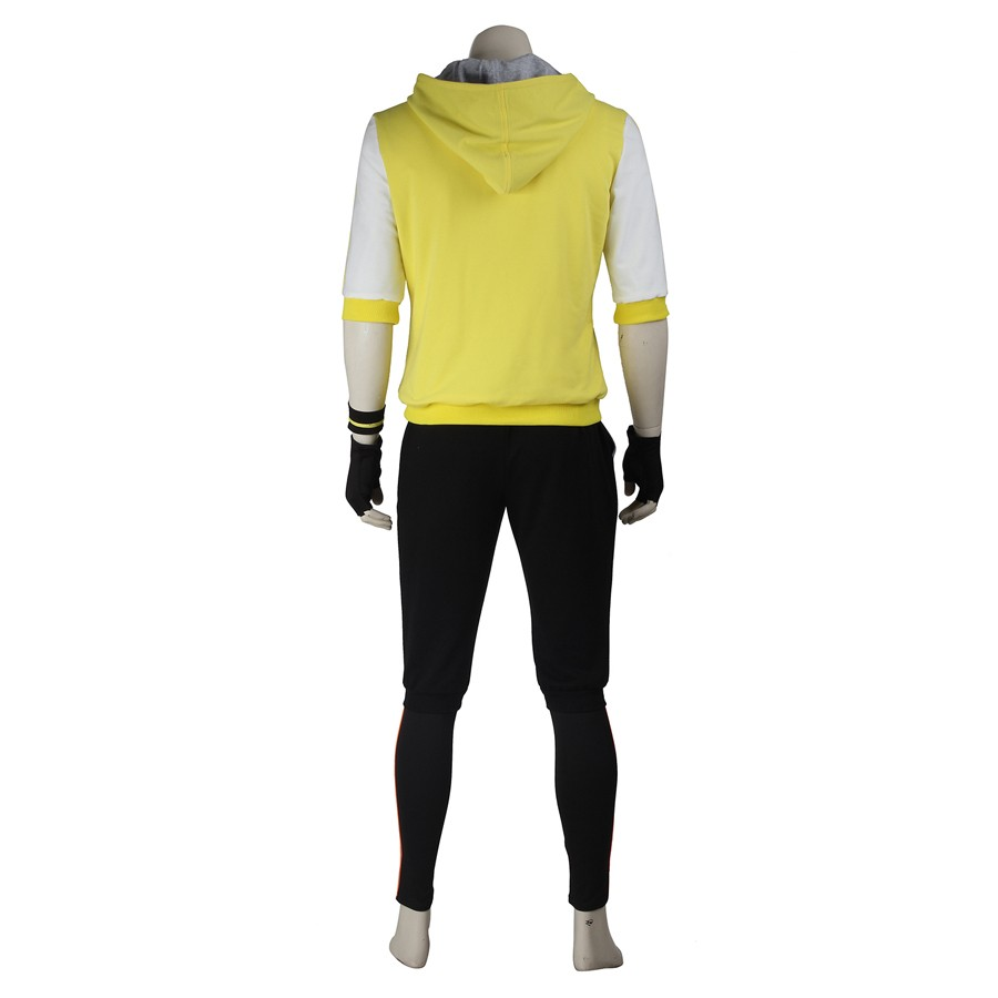 Pokemon Go Male Yellow Trainer Team Cosplay Costume
