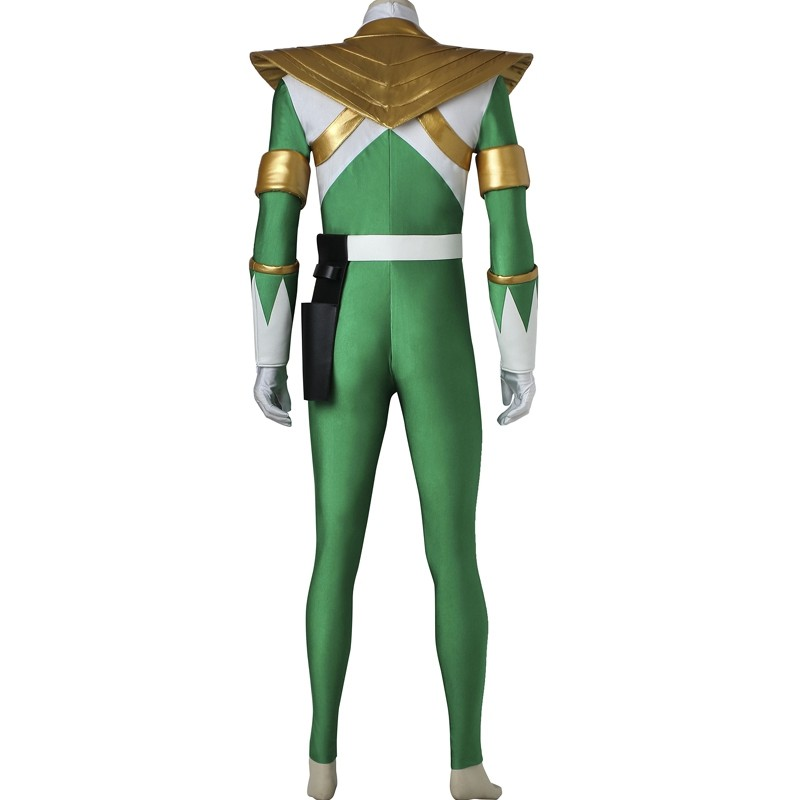 Power Rangers Green Jumpsuits Zyuranger Dragon Green Ranger Costume