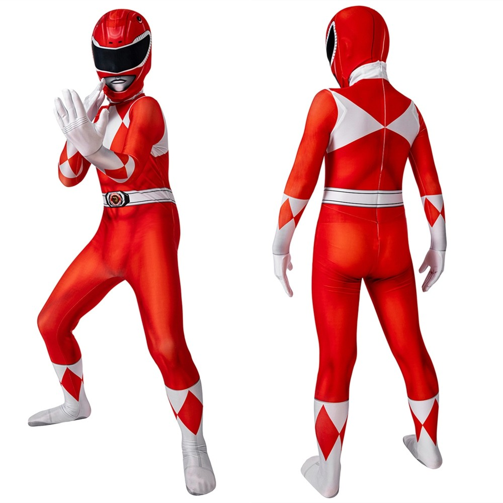 Power Rangers Jason Red Ranger Kids 3D Jumpsuit