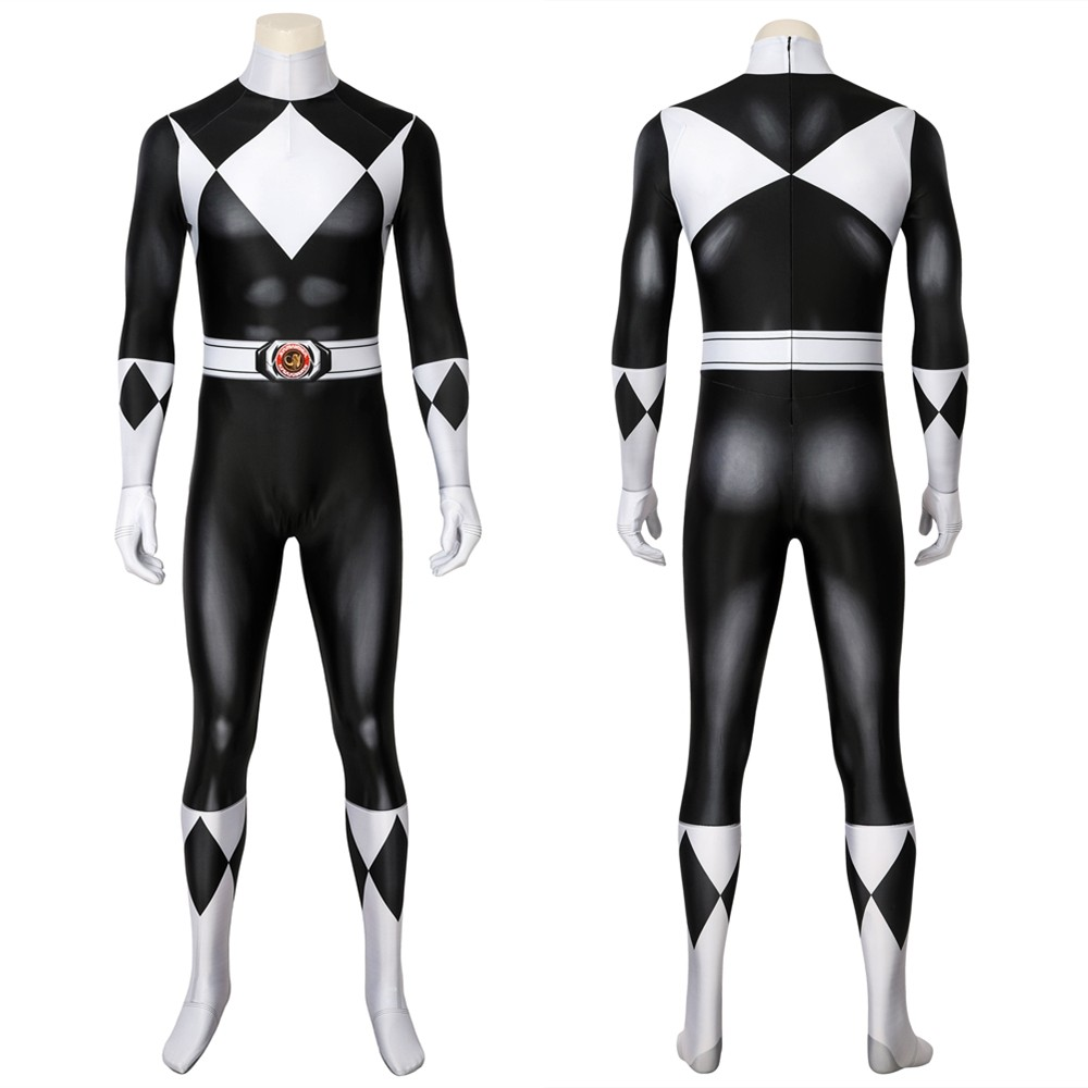Power Rangers Zack Black Ranger 3D Jumpsuit