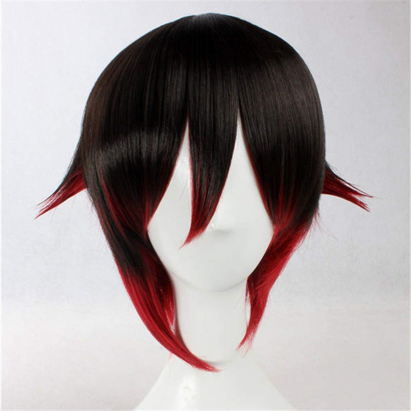 RWBY Red Trailer Ruby Cosplay Wigs