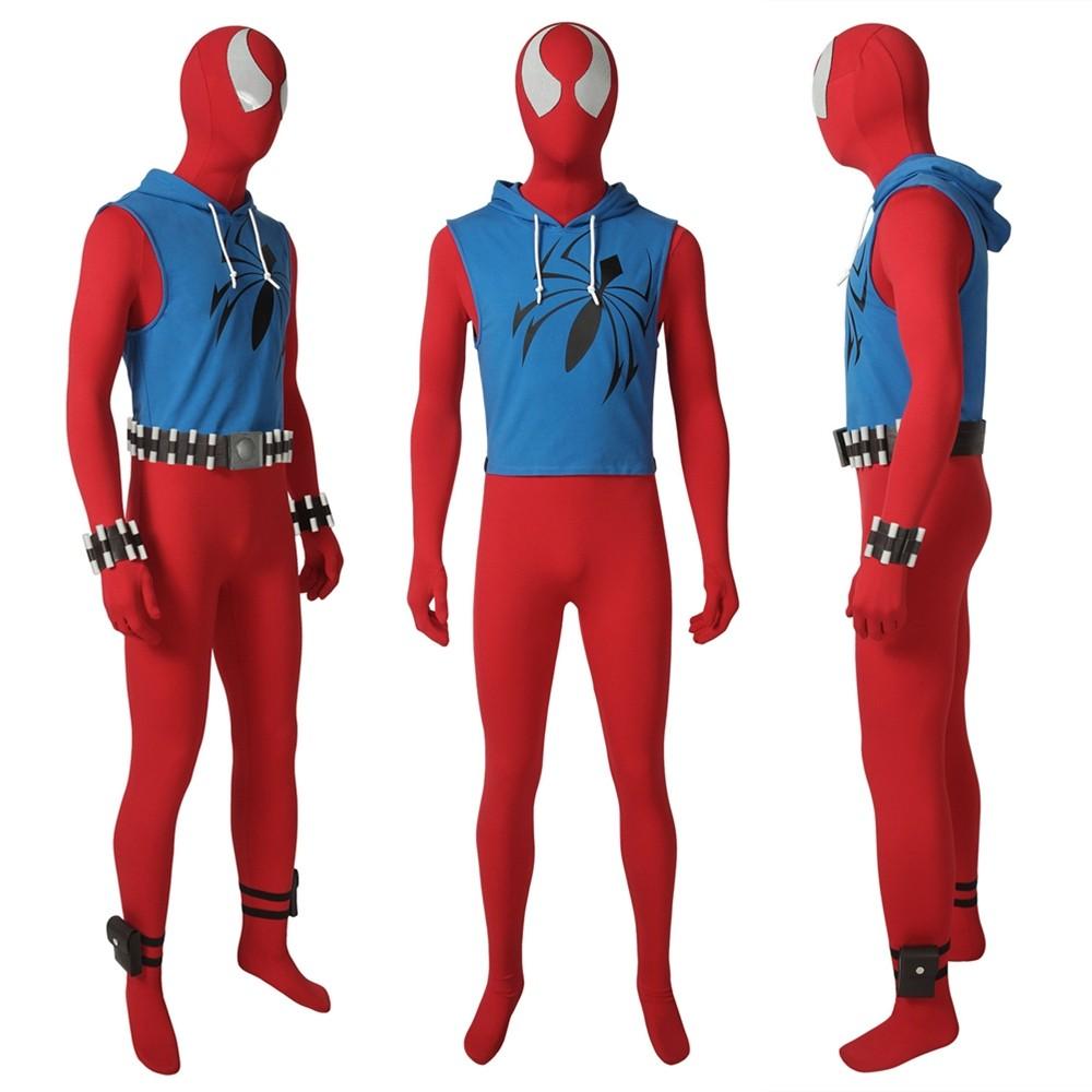 Scarlet Spider Ben Reilly Cosplay Costume