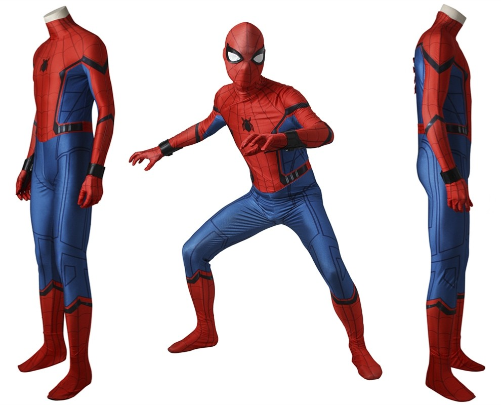 Spider Man Homecoming Peter Benjamin Parker Spiderman Cosplay Jumpsuit