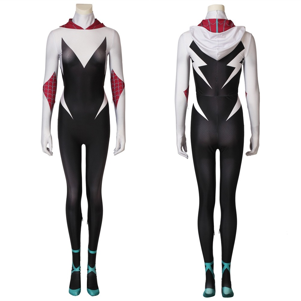 Spider-Man Into the Spider-Verse Gwen 3D Zentai Jumpsuit