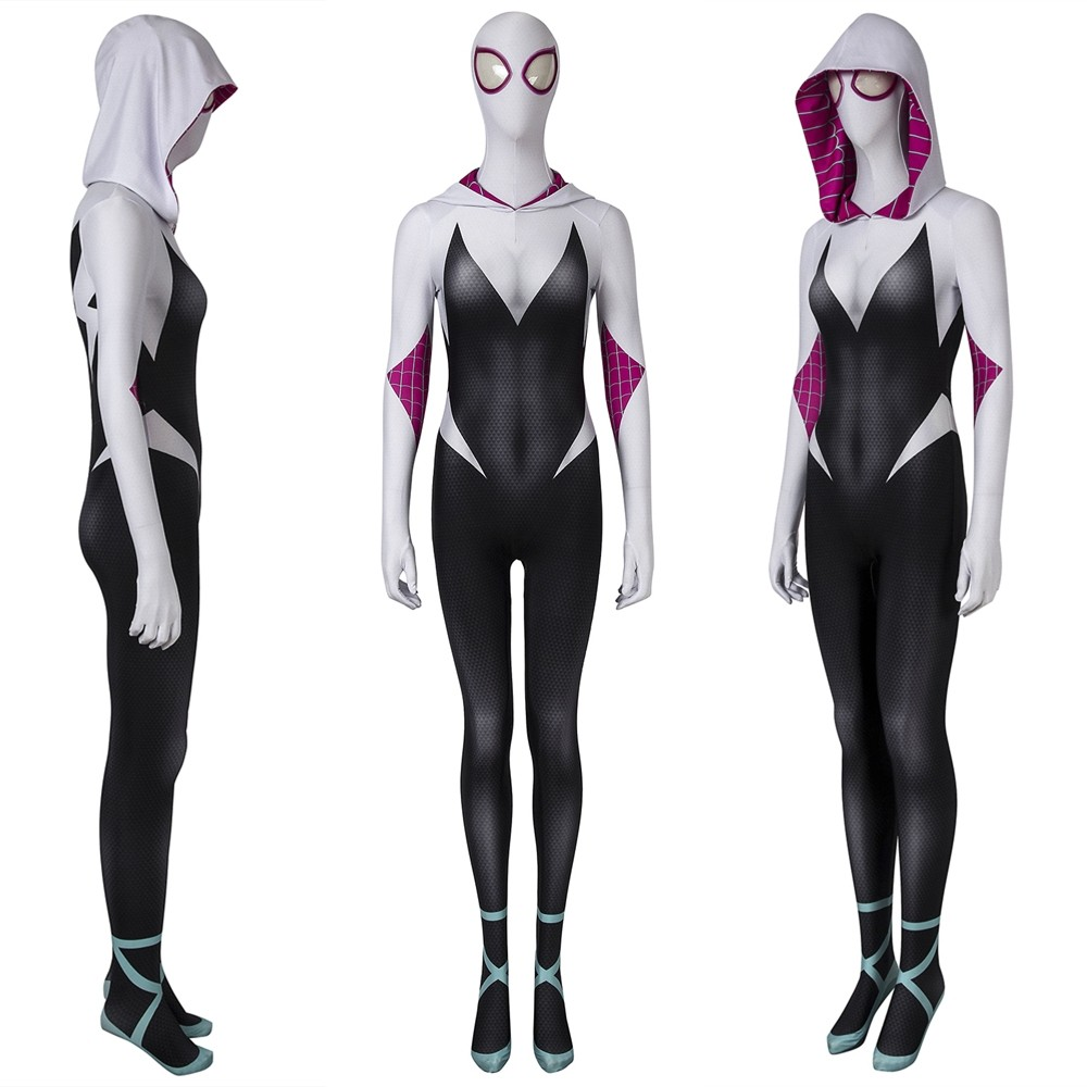 Spider-Man Into The Spider-Verse Gwen Stacy 3D Zentai Jumpsuit
