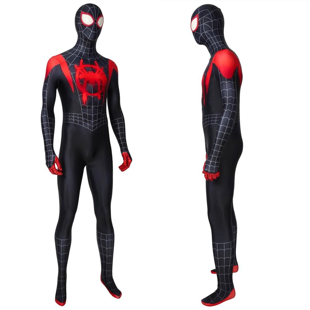 Spider-Man Into the Spider-Verse Miles Morales Zentai 3D Jumpsuit