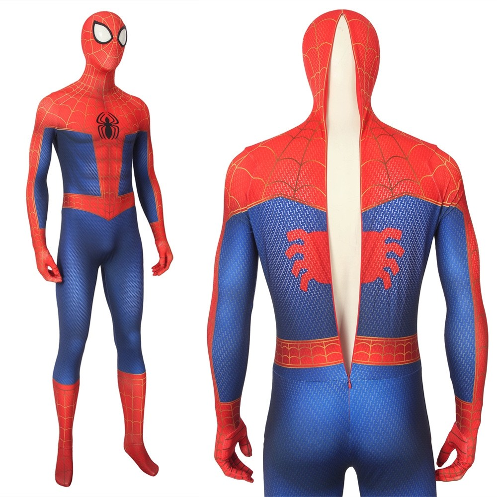 Spider-Man Into the Spider-Verse Peter Parker 3D Zentai Jumpsuit
