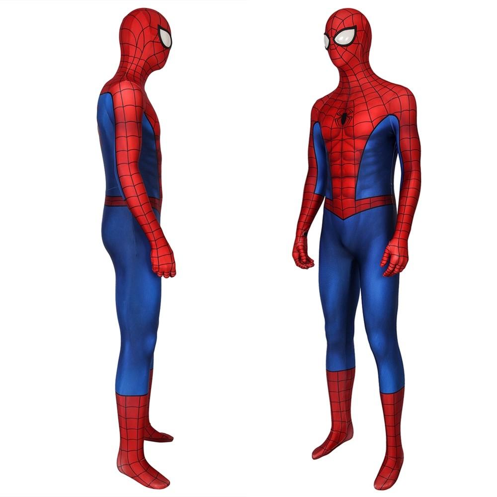 Spider-Man PS4 Classic 3D Jumpsuit Zentai Repaired Version