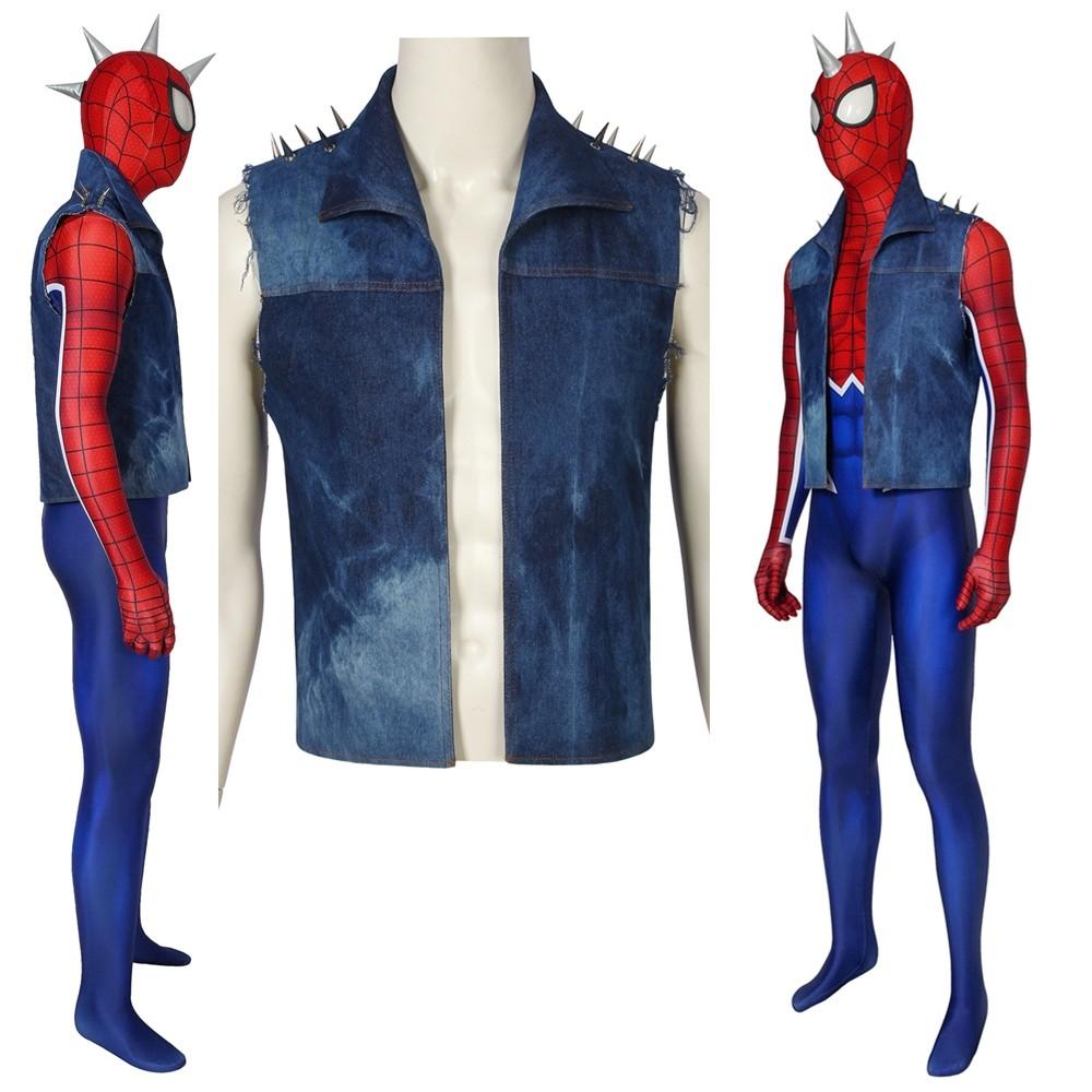 Spider-Man PS4 Spider-Punk 3D Jumpsuit Zentai