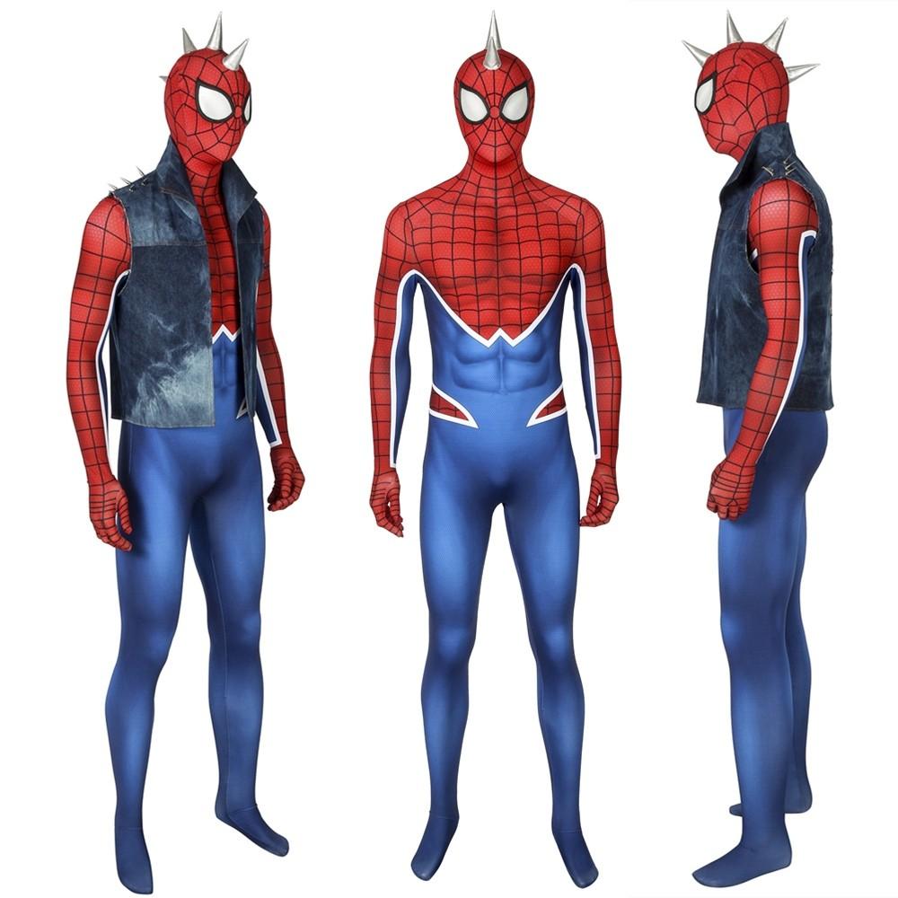 Spider-Man PS4 Spider-Punk 3D Zentai Jumpsuit