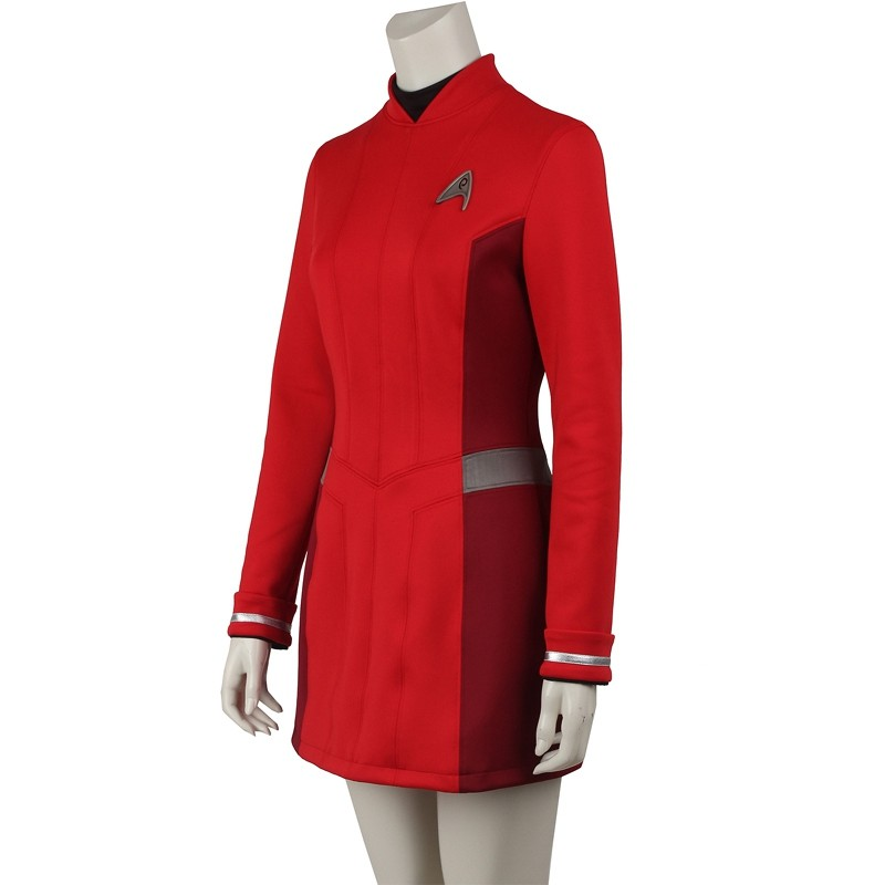 Star Trek Beyond Nyota Uhura Red Dress Cosplay Costume Uniform