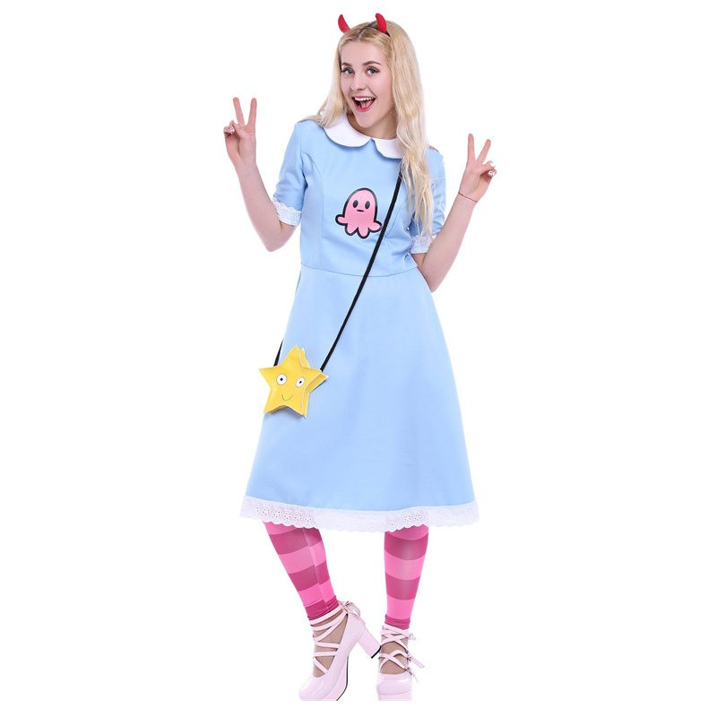 Star vs the Forces of Evil Princess Star Butterfly Blue Dress Costume