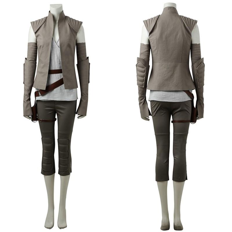 Star Wars 8: The Last Jedi Rey Cosplay Costume
