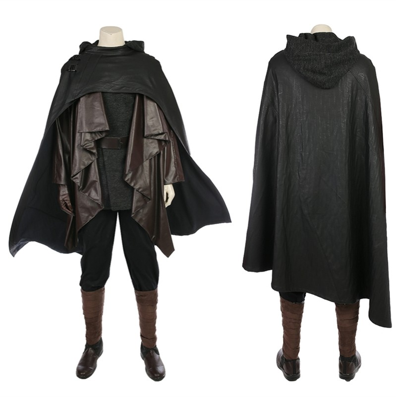 Star Wars The Last Jedi Luke Skywalker Cosplay Costume Deluxe Outfit