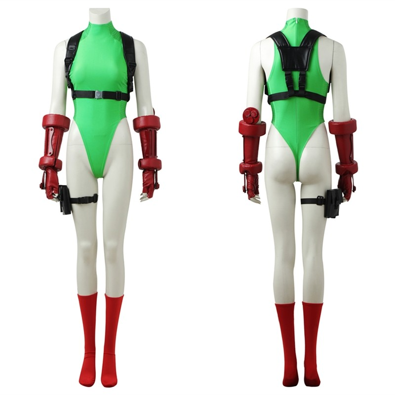 Street Fighter V Cammy White Cosplay Costume Jumpsuits