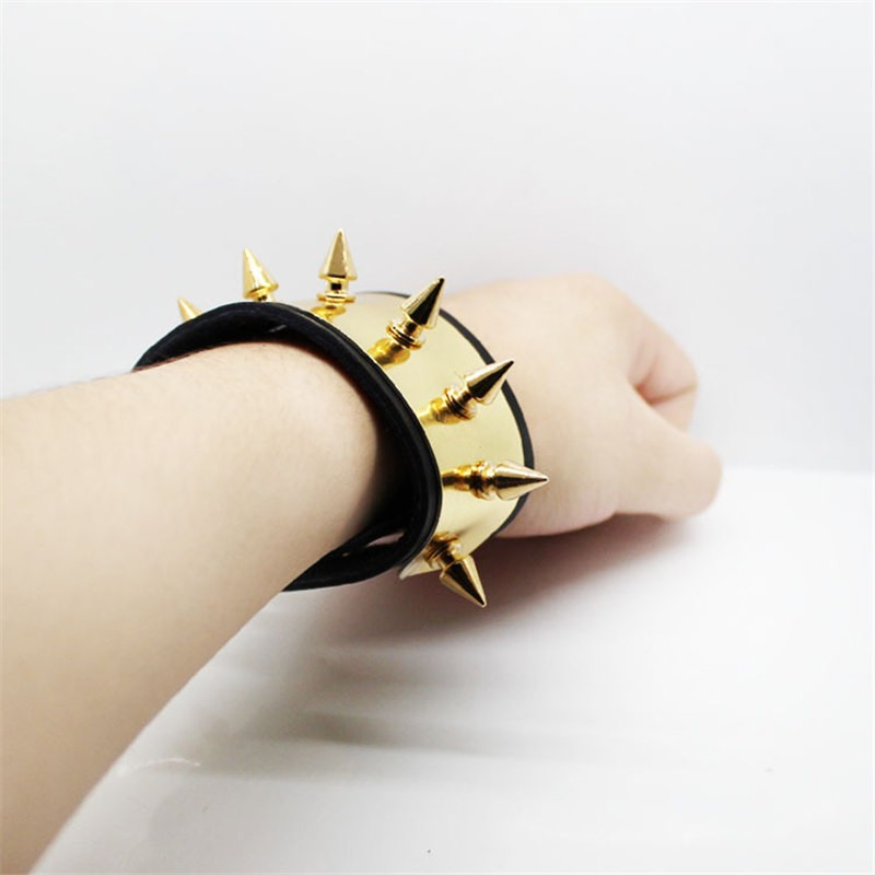 Suicide Squad Harley Quinn Leather Metal Cuff Bracelet Cosplay
