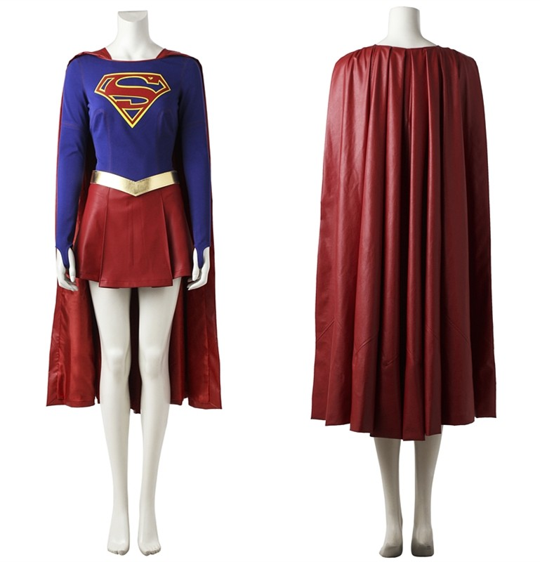 Supergirl Kara Zor-El Danvers Cosplay Costume Deluxe Version