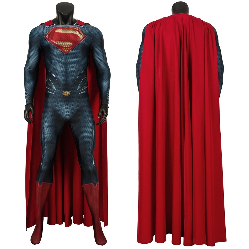 Superman: Man of Steel Superman Clark Kent 3D Zentai Jumpsuit