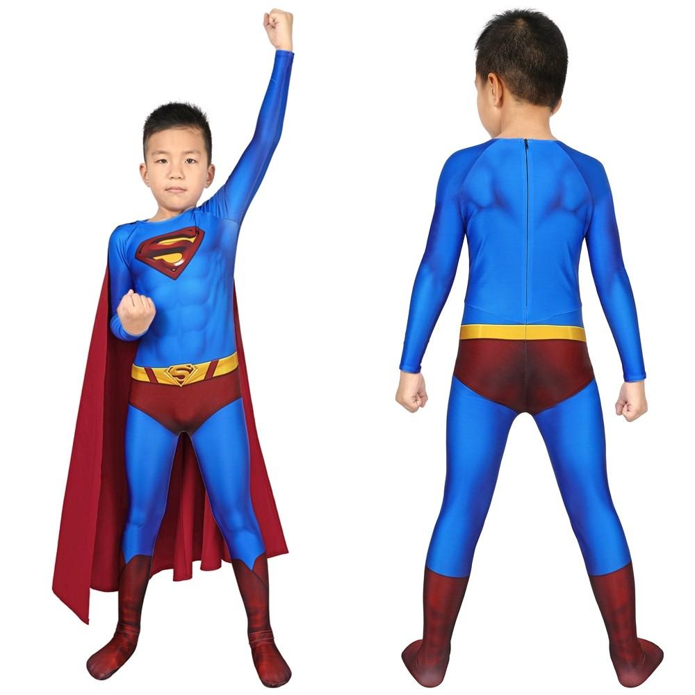 Superman Returns Superman Clark Kent Kids 3D Jumpsuit