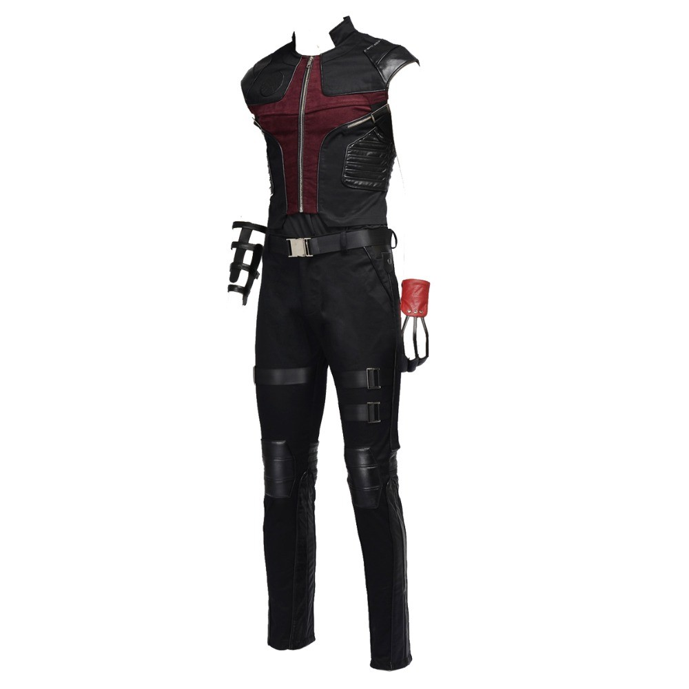 The Avengers Hawkeye Barton Cosplay Costume Deluxe Outfit