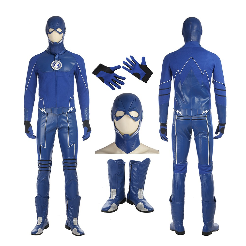 The Flash The Future Blue Flash Cosplay Costume Full Suit Deluxe