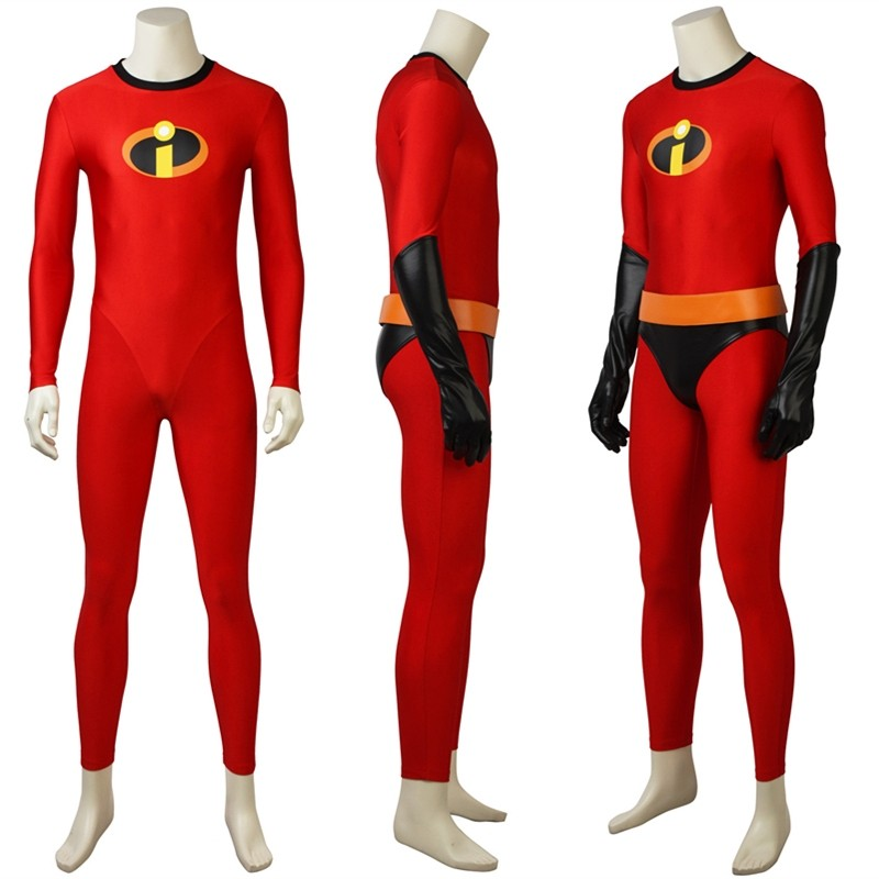 The Incredibles 2 Bob Parr Cosplay Costume Mr Incredible Jumpsuit