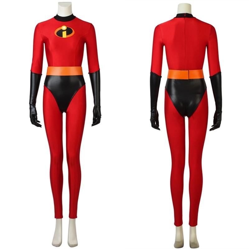 The Incredibles 2 Helen Parr Cosplay Costume Elastigirl Jumpsuit