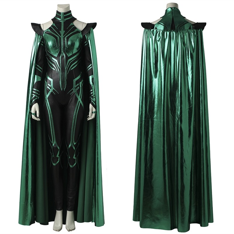 Thor Ragnarok Hela Cosplay Costume Deluxe Fancy Dress