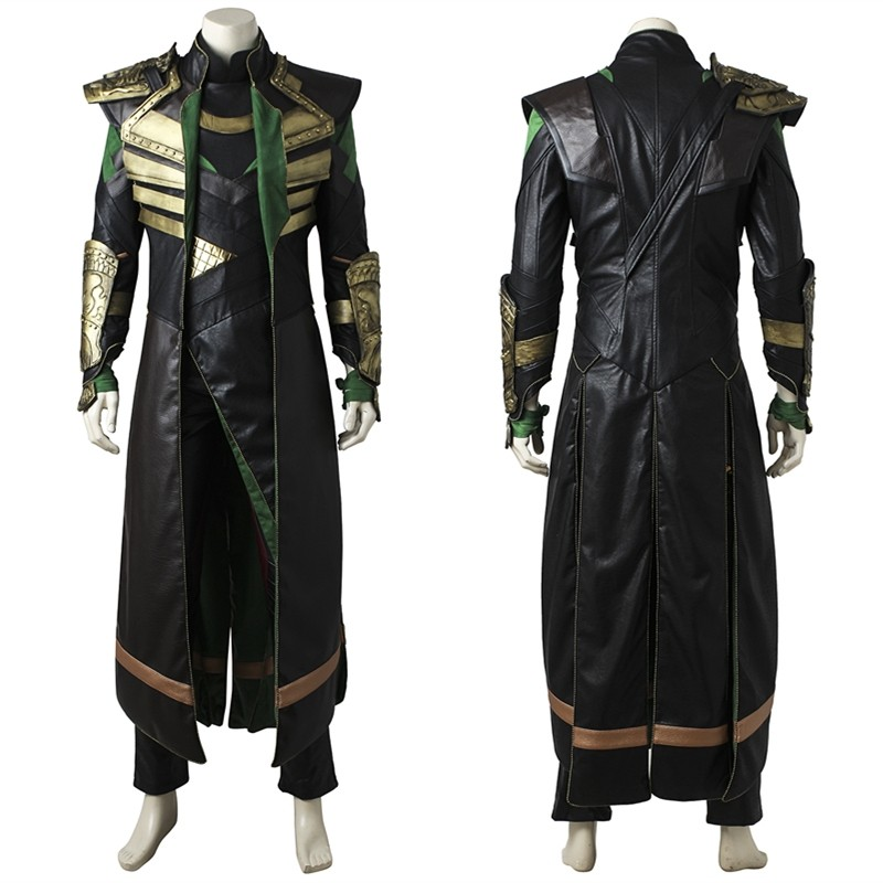 Thor The Dark World Loki Cosplay Costume Deluxe Version