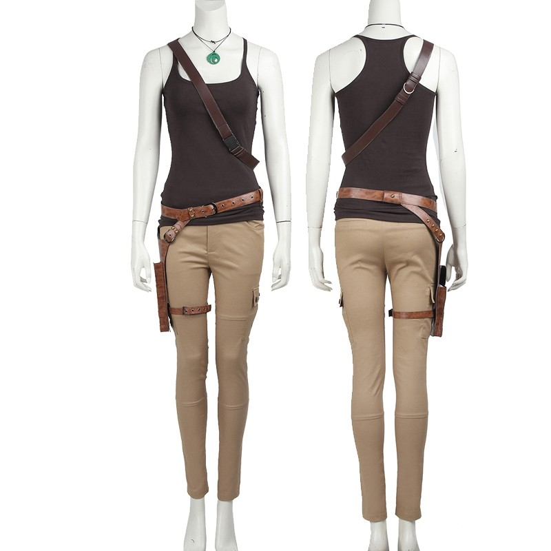 Tomb Raider Lara Croft Cosplay Costume Vest Version