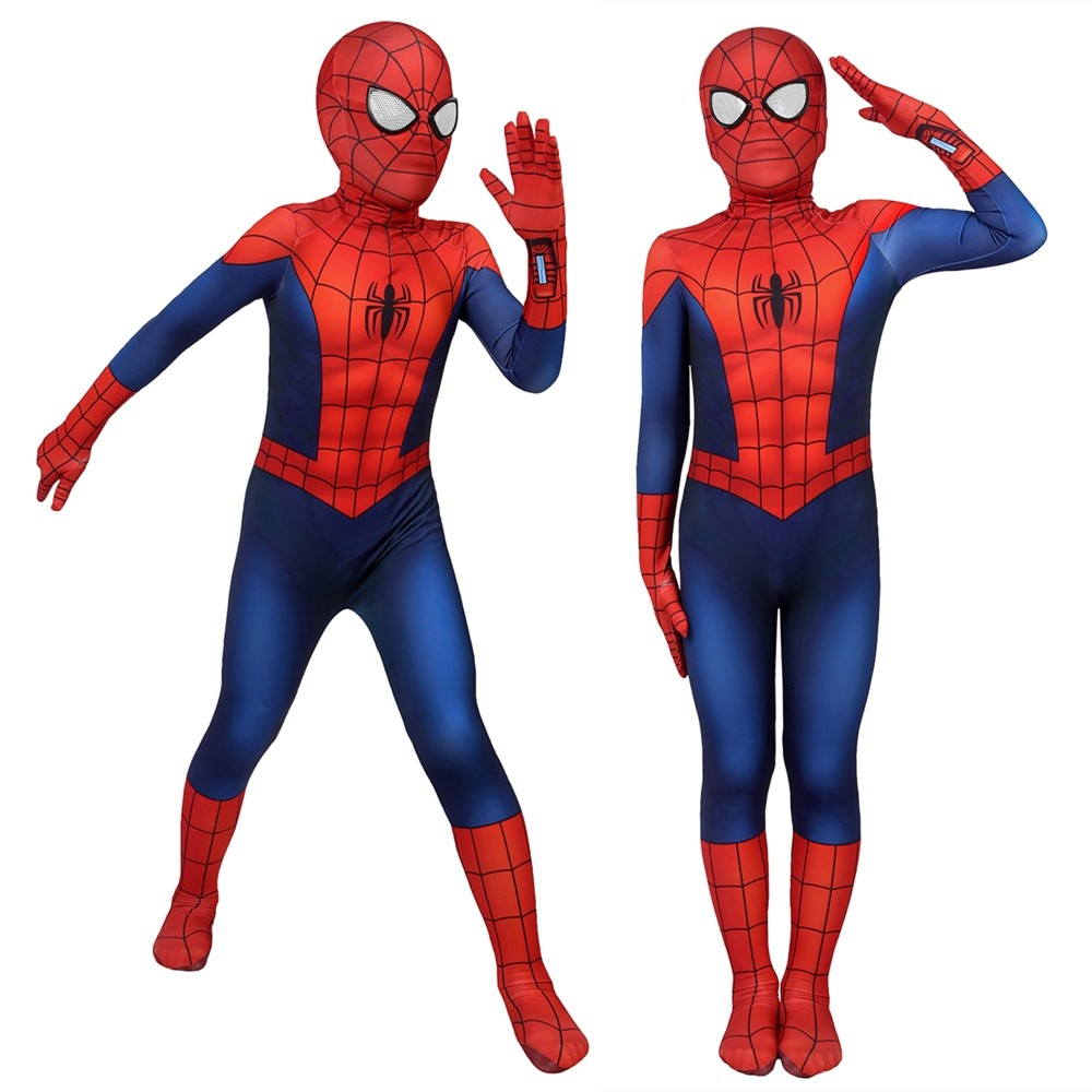Ultimate Spider-Man Peter Parker Kids 3D Zentai Jumpsuit