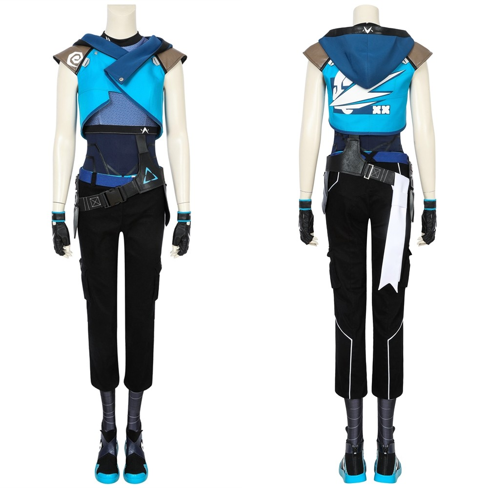 Valorant Jett Cosplay Costume Outfit
