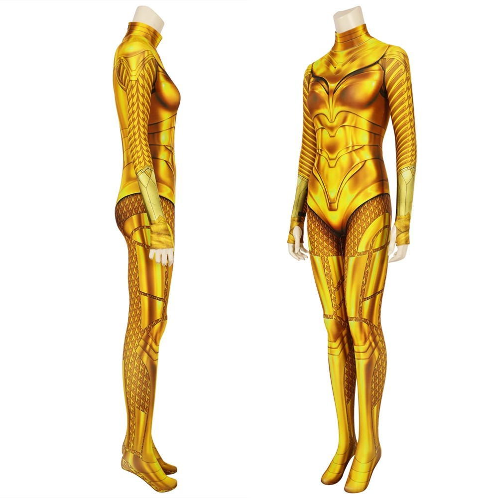 Wonder Woman 1984 Diana Prince Golden 3D Cosplay Jumpsuit