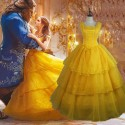2017 Disney Beauty and The Beast Belle Dress Emma Watson Belle Yellow Dress