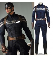 Captain America 2 Steve Rogers Cosplay Costume Deluxe Version