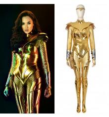 Wonder Woman 1984 Diana Prince Cosplay Costume Golden Suit